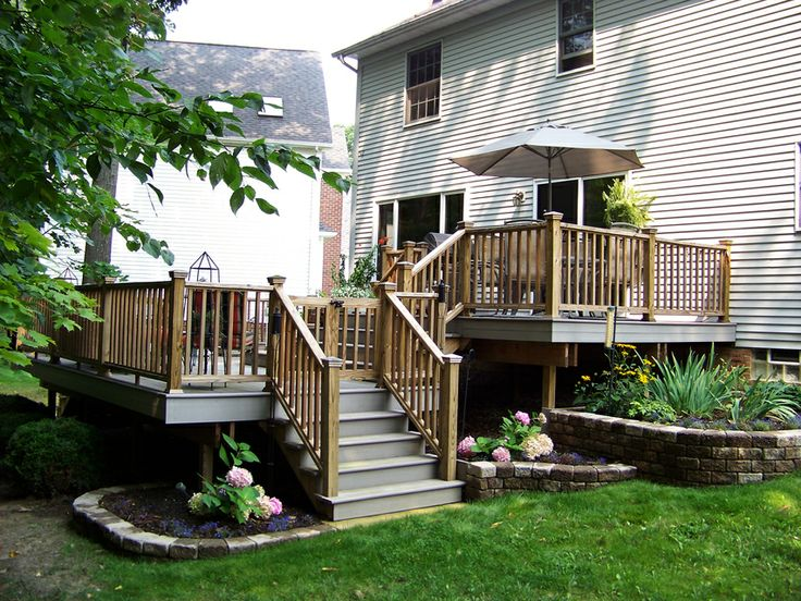 19 Top Photos Ideas For Two Tiered Decks - Home Building ... on Tiered Patio Ideas id=99600