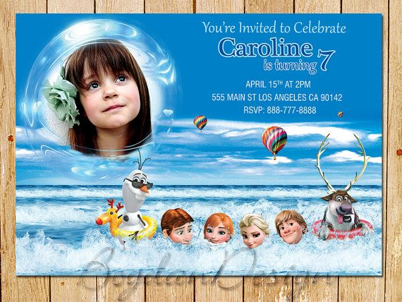 Frozen Invitation Disney Frozen Birthday Party by BogdanDesign, $7.99