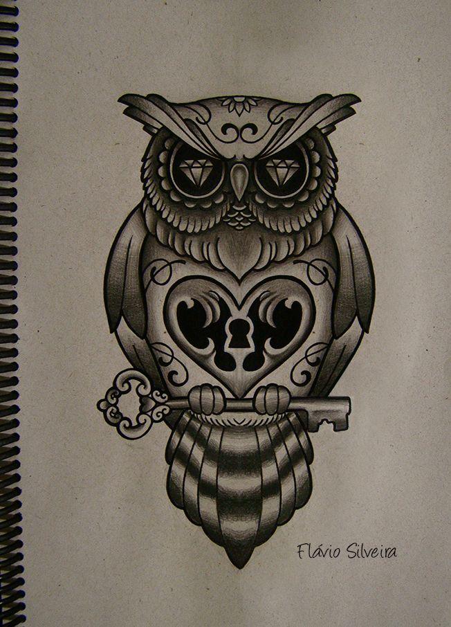 owl tattoos  | new owl tattoo by ~FraH on deviantART
