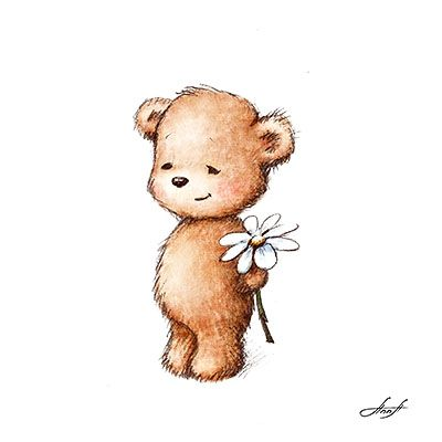 http://annaabramskaya.com//Content/Galleries/Illustration/images/Teddy%20Bear%20with%20Daisy.jpg