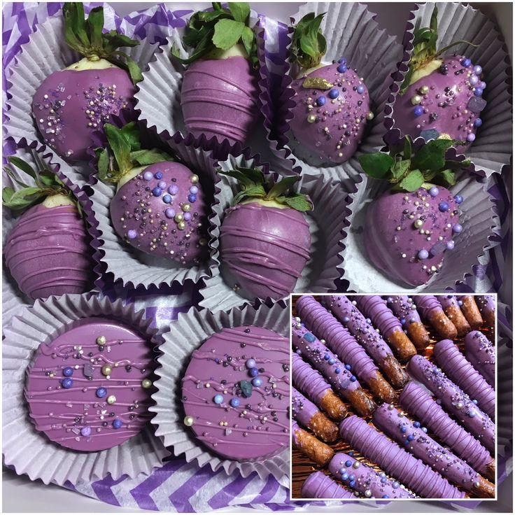Purple Desserts Chocolate Covered Strawberries Chocolate