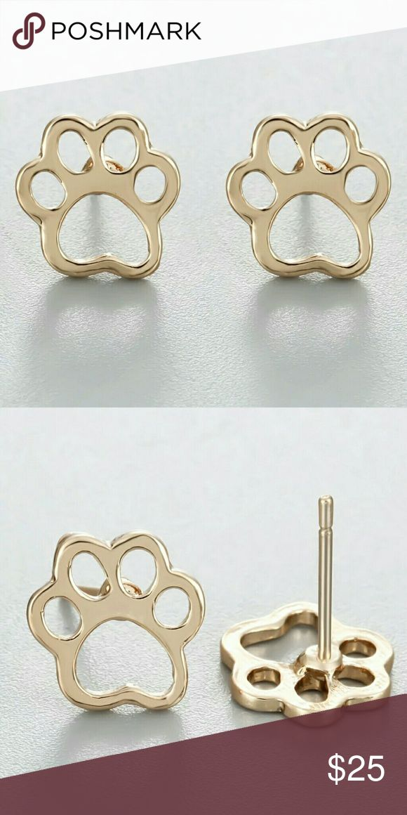 Coming Soon! Gold Plated Cat's Paw Earrings Adorable & affordable anti allergy nickel free Metal Alloy Earrings. Post back should be arriving in next few weeks price will be$15 upon arrival. Jewelry Earrings