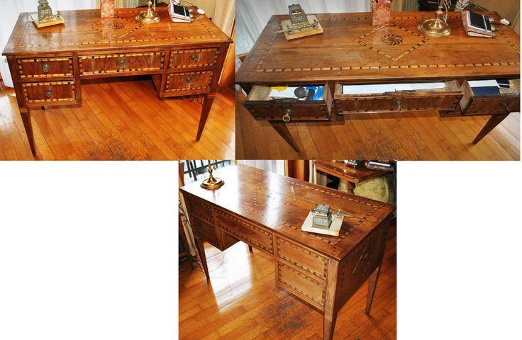 scrivania intarsiata