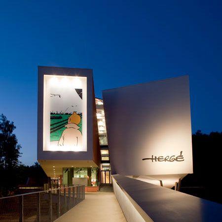 Museu Hergé - bélgica - Arquiteto Cristian Portzamparc
