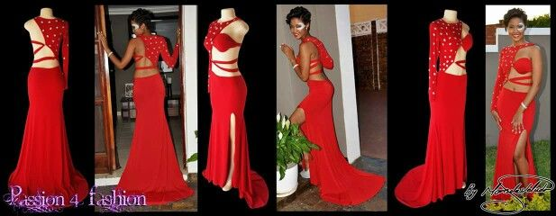A red sexy and different sweet 16 evening dress. With a slit and a train and a closed and open side. Single sleeve, the dress is tied from the centre of the back to the centre of the front. Closed side and sleeve with clear silver beads. #mariselaveludo #fashion #eveningwear #passion4fashion #sexydress #redsexydress #sweetsixteen