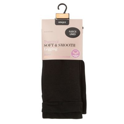 Debenhams Black 'Soft & Smooth' thermal leggings | Debenhams