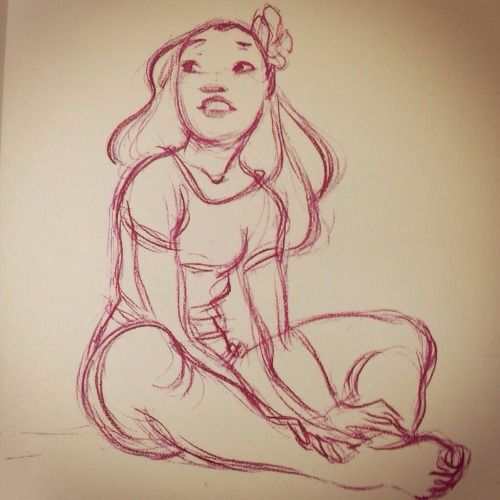 An incredible Nani sketch from Lilo and Stitch. I believe by...