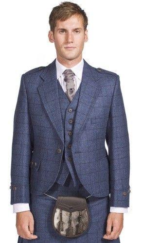 Luxury Argyle Tweed Kilt Jacket & 5 Button Waistcoat, Made to Order