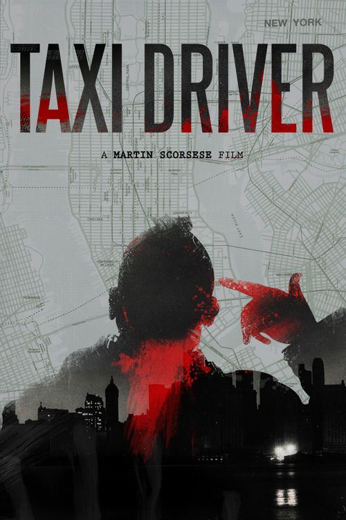 Taxi Driver (1976) - A mentally unstable Vietnam war veteran works as a night-time taxi driver in New York City where the perceived decadence and sleaze feeds his urge for violent action, attempting to save a preadolescent prostitute in the process.