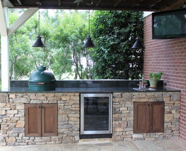 This for our outdoor kitchen--a spot for The Big Green Egg, and a cooler that's built-in
