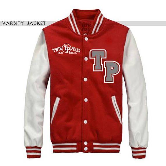 TWIN PEAKS VARSITY jacket, college jacket, personalized jacket, 90s varsity, varsity man, 90s woman jacket, 90s man jacket, retro jacket