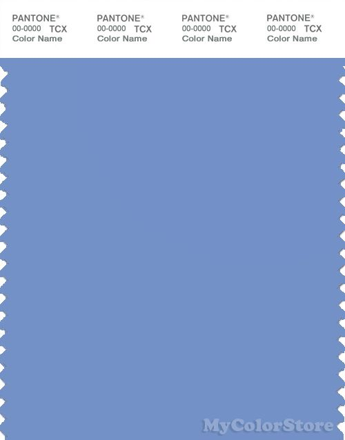 PANTONE SMART 16-4031X Color Swatch Card, Cornflower Blue
