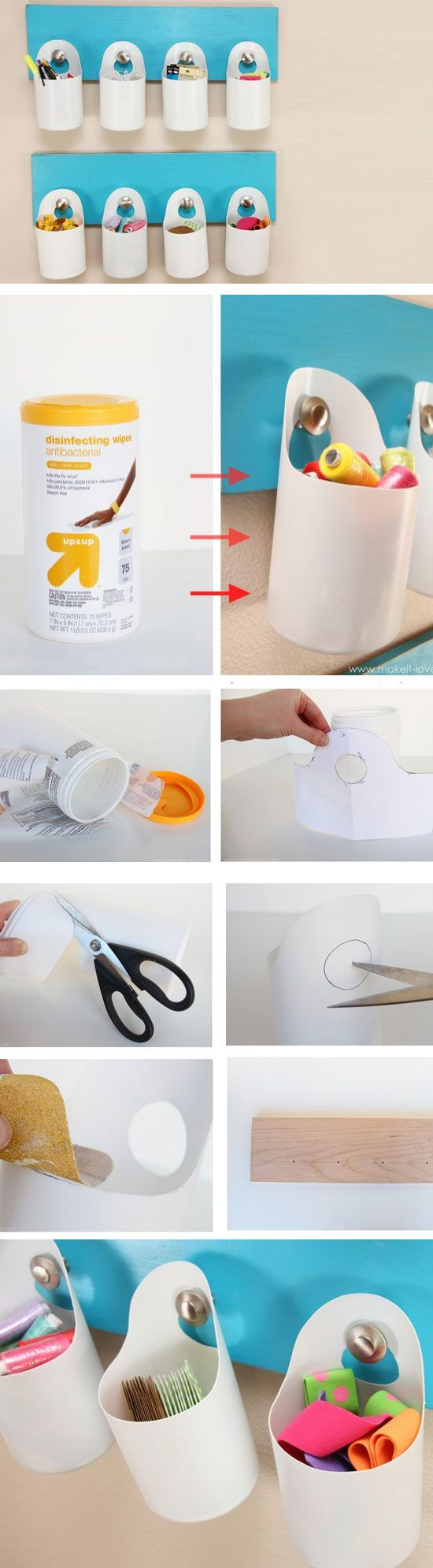 Hanging Storage Bins | Click Pick for 24 DIY Organization Ideas for The Home | DIY Storage Ideas for Small Spaces