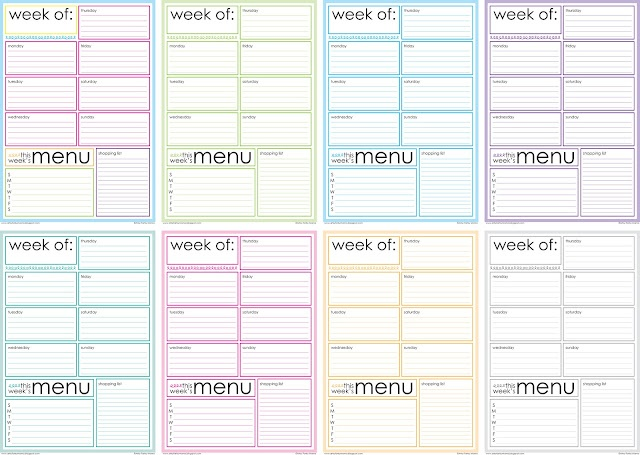 weekly meal plan calender diy. this would be cool to try out we will see if i can keep up with it
