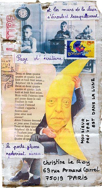 Mailart call Doisneau-Prévert: Annie Baisse                                                                                                                                                                                 Plus