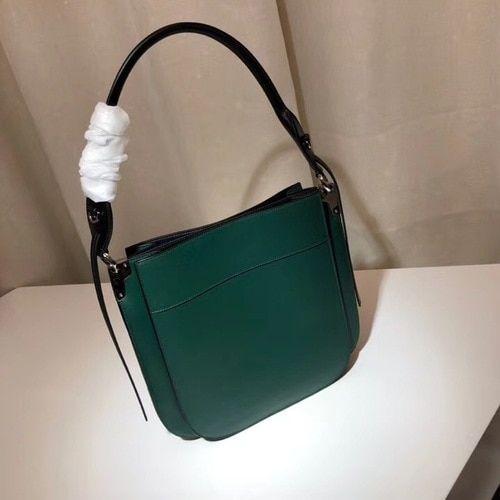 4b6e6daecb53 Prada Margit leather shoulder bag Green Black  SS2019  onlineshopping   discountbag  designerbag