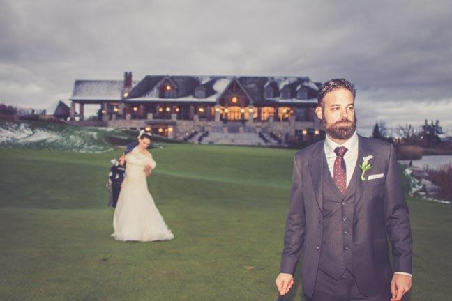 Caddy Bride- Cute idea for golf lovers