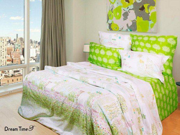 Зеленое постельное белье. Зеленый цвет знаменит своими успокаивающими свойствами. Постельное белье зеленого цвета будет дарить Вам чувство свежести и единения с природой, поможет максимально расслабиться, снять стресс и мышечное напряжение, проснувшись отдохнувшим и бодрым.