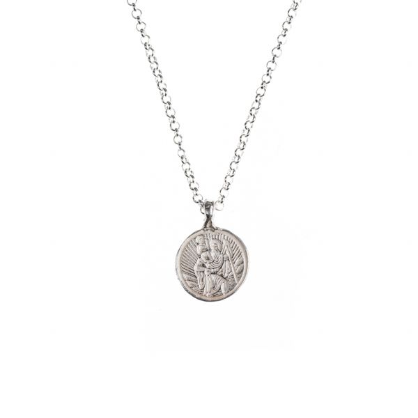 st christopher silver necklace daniella draper jewellery