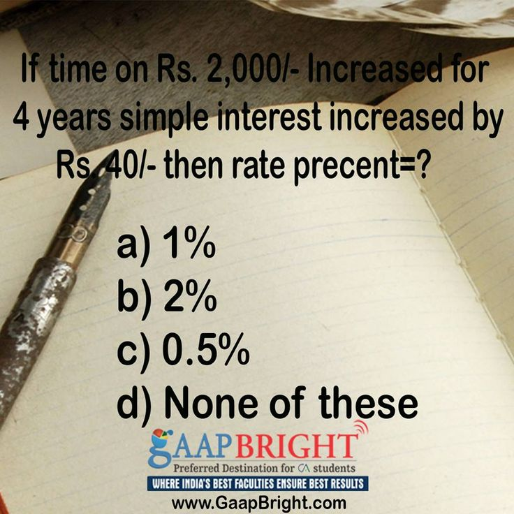 MCQ of the day..!  Visit us at; www.GaapBright.com
