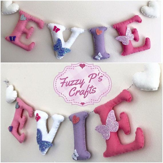 Personalised gifts for new baby girls by ElfMama on Etsy