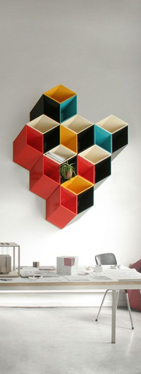 Imeuble-on-Nasjonalgalleriet - Shelf / Color / Design / Cube / modern / contemporary / decore / living room / office /  storage - Home Decorating Ideas )