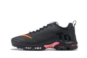 2560dd5ef211 Mens Womens Nike Air Max Plus Mercurial TN Ultra SE Tuned Black Orange  AQ0242 001 Running