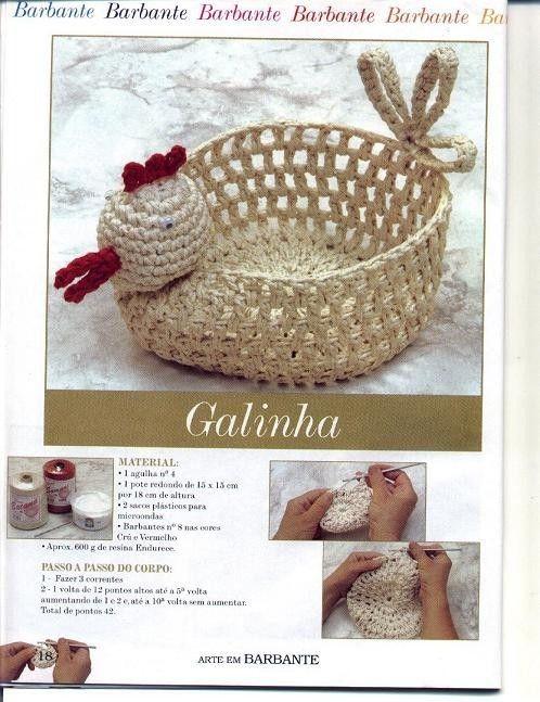 119 best Cajas crochet images on Pinterest | Artesanías, Canastilla ...