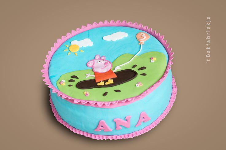 Peppa big taart - 't Bakfabriekje