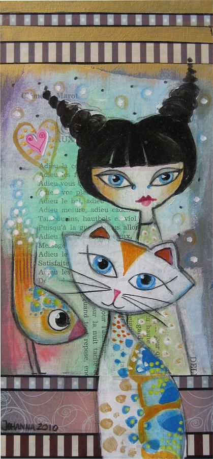 Friends Mixed Media - by Johanna Virtanen