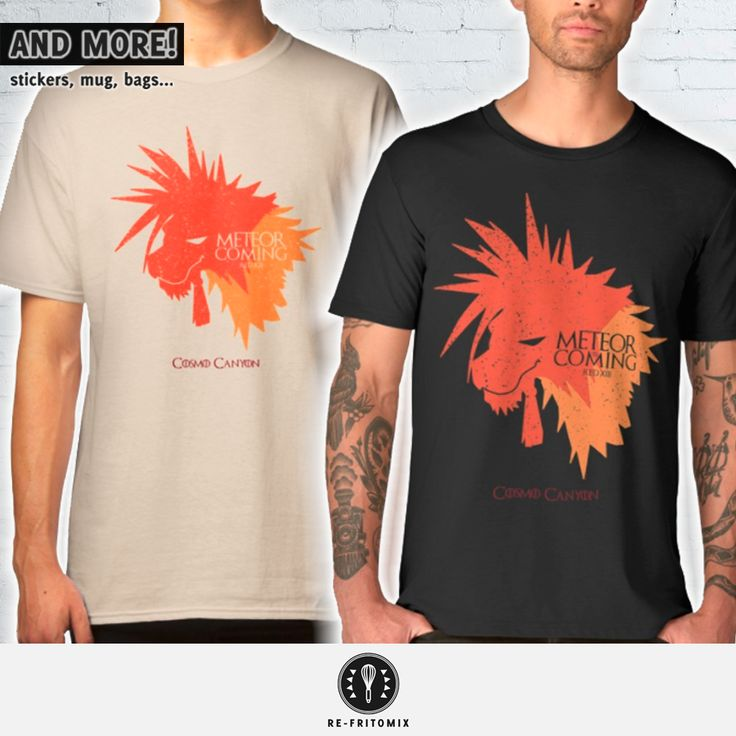 New Design! FINAL FANTASY VII + Game of Thrones MASHUP! (and more stuff...) Available on Redbubble, latostadora & Society6   #cosmocanyon #gamer #gameofthrones #gaminglife #geek #FinalFantasy #finalfantasyvii #finalfantasy7 #FinalFantasyVIIRemake #mashup #nanaki #parody #redxiii #retrogaming #tshirt #tee #videogames #winteriscoming