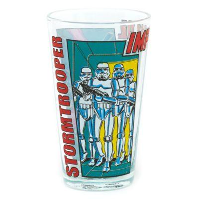 I piccoli fan di Star Wars hanno sempre bisogno di bibite fresche durante e dopo le loro avventure. Servile in questo fantastico bicchiere in vetro, decorato con le immagini stile fumetto dei minacciosi soldati delle Truppe d'Assalto imperiali.