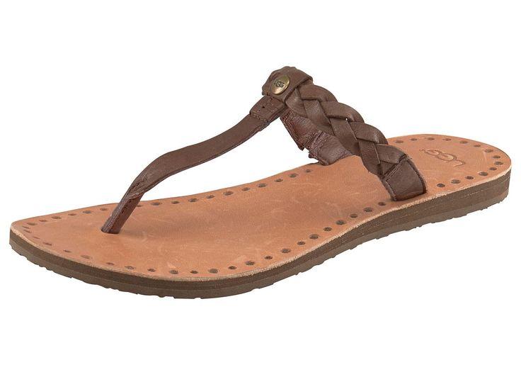 Produkttyp , Sandale, |Schuhhöhe , Sandale, |Materialzusammensetzung , Obermaterial: 100% Leder. Decksohle: 100% Leder. Laufsohle: 100% Gummi, |Farbe , Dunkelbraun, |Obermaterial , Leder, |Verschlussart , Zehensteg, |Laufsohle , Gummi, | ...