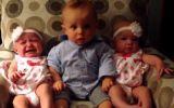 YouTube: video de bebe que conoce gemelos emociona al mundo