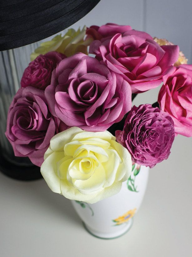 Mothers day craft? Coffee Filter Flowers-add rose oil to
