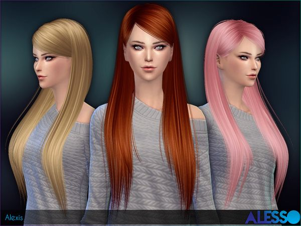 The Sims Resource: Alexis hairstyle by Alesso  - Sims 4 Hairs - http://goo.gl/4OpU4e