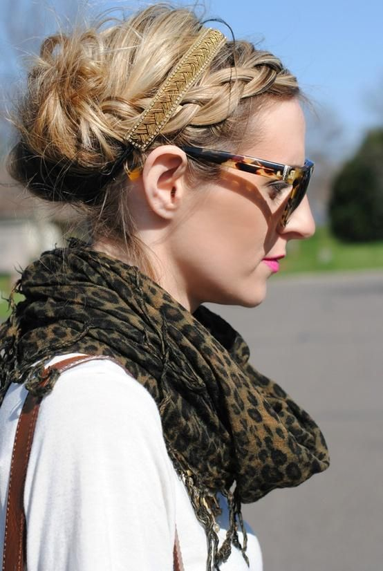 casual updo | casual updo - Hairstyles and Beauty Tips... I like her braid, I would do this without the head band, though
