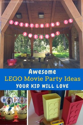 Fun ideas for a Lego Movie Party - decorations, cute favors!