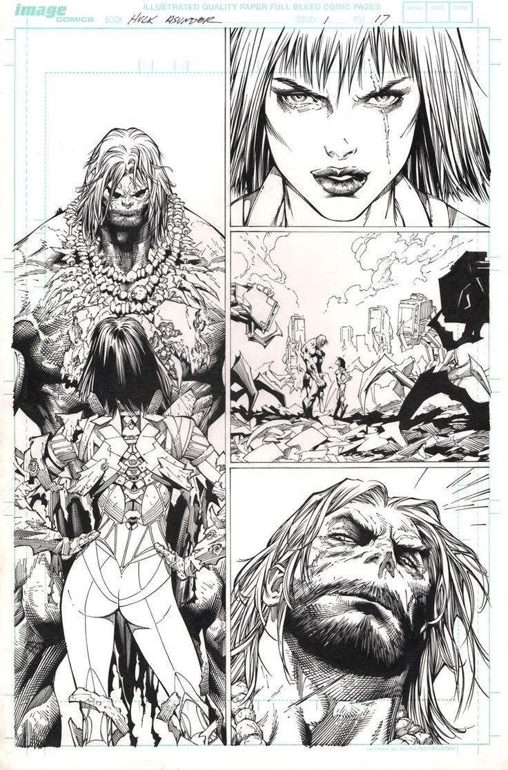 The Incredible Hulk Issue #1 Page 17. Pencils: Michael Broussard Inks: Rick Basaldua Marvel ©