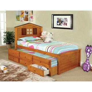 Furniture of America Tree House Captain Twin Bed With 3 Drawer Twin Trundle | Overstock™ Shopping - Great Deals on Furniture of America Kids' Beds
