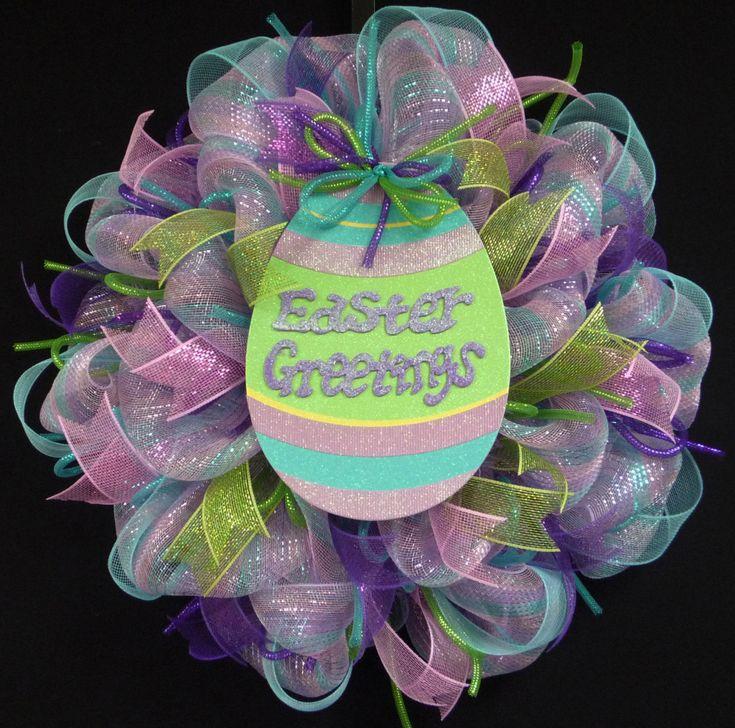 Happy Easter Wreath Easter Decor Wreaths Front by wreathsbyrobin