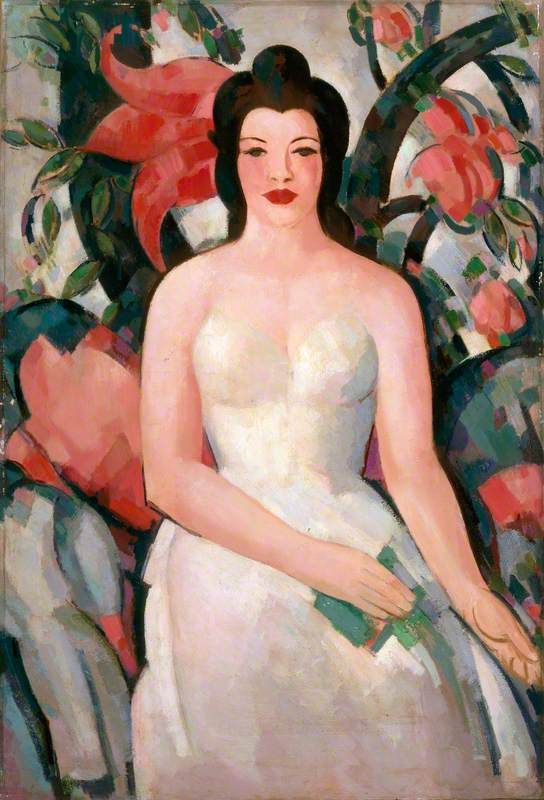 The Indian Curtain , by John Duncan Fergusson ,1946