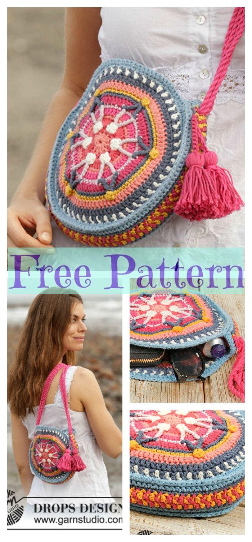 8 Crochet Summer Bags – Free Patterns