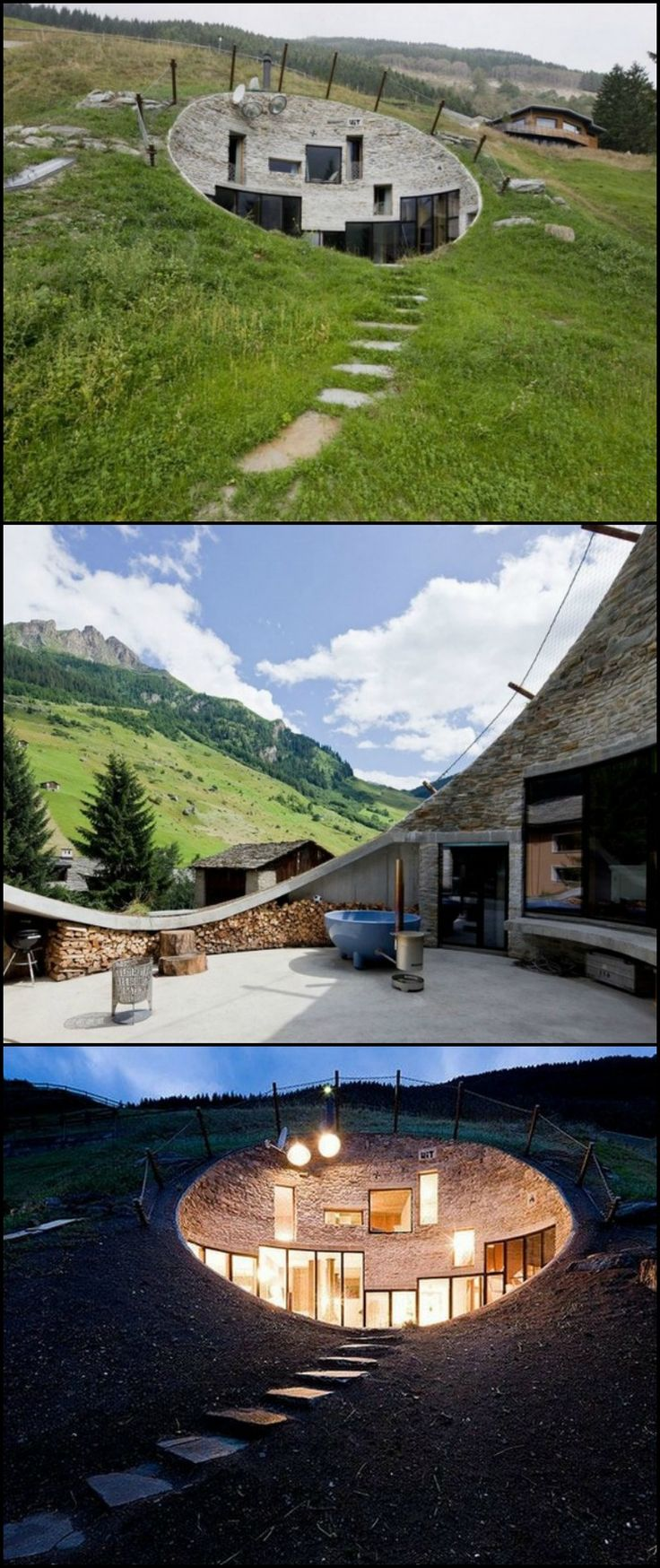 Most of us would think twice before even considering and underground home. Yet such homes offer some unique advantages, both ecologically and for the security conscious. http://architecture.ideas2live4.com/2015/08/08/underground-living-in-switzerland/ Underground living has some distinct advantages and this home makes the most of them. Could you live underground?