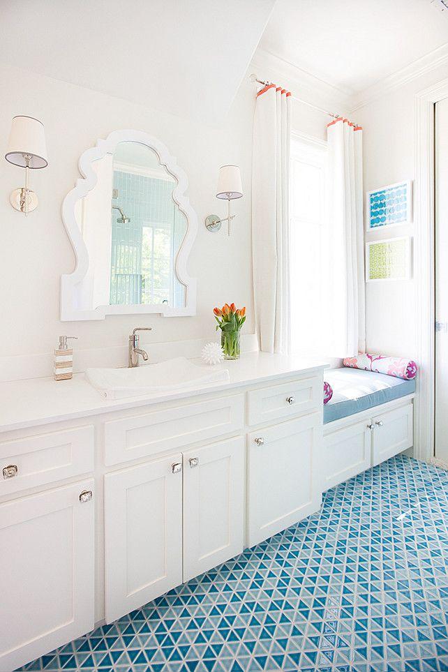 Kids Bathroom With Window Seat Contemporary Bathroom Tracy Hardenburg Designs