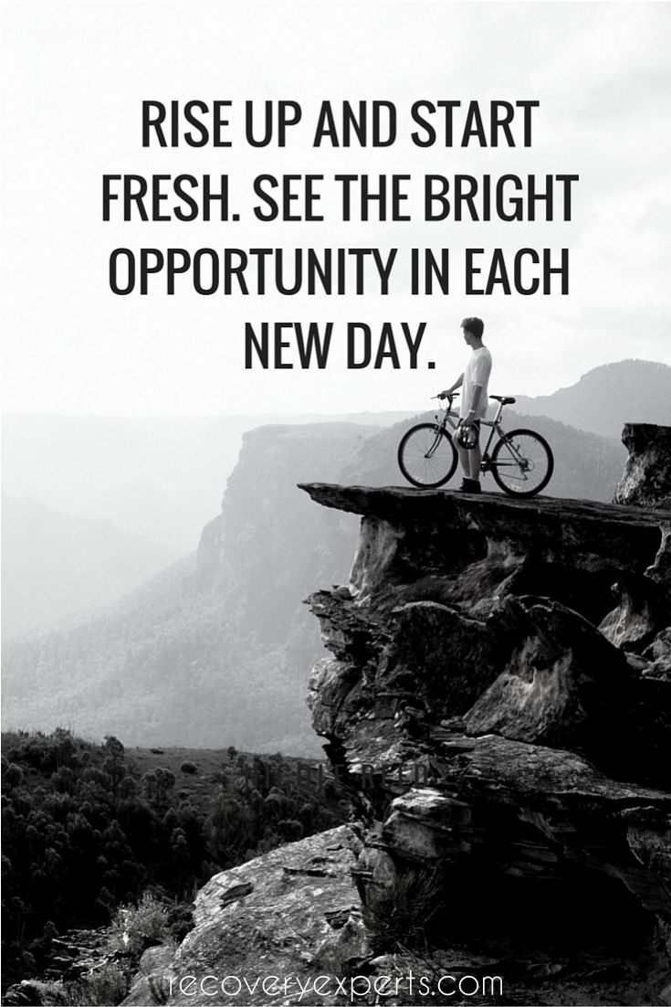 Motivational Quote Rise up and start fresh. See the