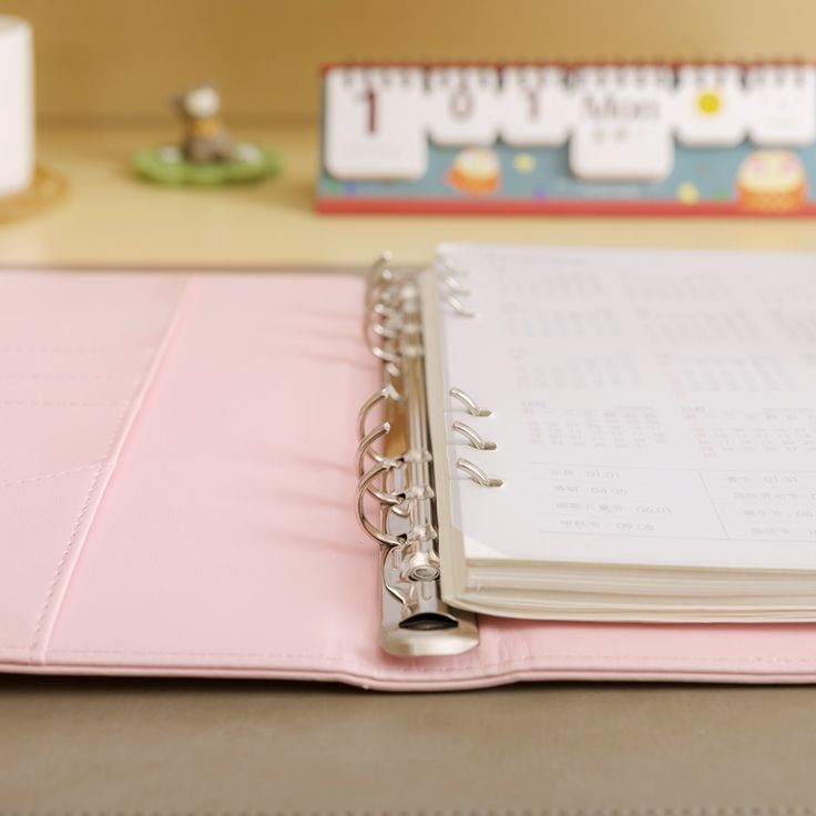 Macaron Office Personal Organizer Notebook , Cute Spiral