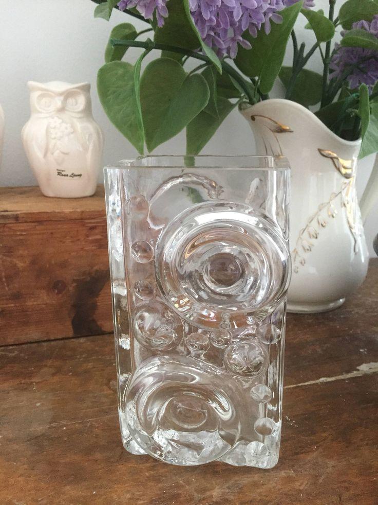Josef Schott/vase/Smålandshyttan/swedish glass/midcentury modern by WifinpoofVintage on Etsy