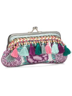 JAIPUR TASSEL LONG CLIP FRAME PURSE