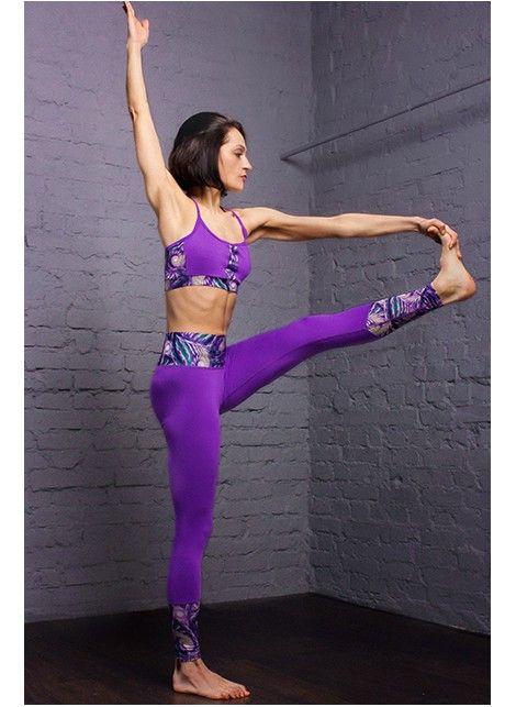 Спортивные лосины для йоги Soul Balance. Специальная эластичная ткань, которая  держит в тонусе мышцы, подтягивает тело, не оставляет следов пота.